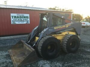 2001 New Holland Ls190 Skid Steer Loader W Cab No Door 2 Speed Coming Soon