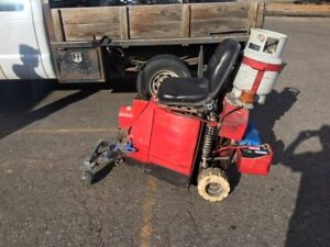Taylor Bronco Propane Ride On Floor Scraper Stripper For Sale