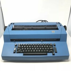 Ibm Selectric Ii Correcting Electric Typewriter Blue Tested Working Vintage