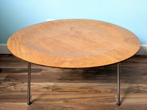 1940 S Charles Eames Original Molded Plywood Coffee Table With Chrome Legs