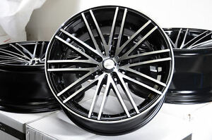 19x8 5 19x9 5 Set Of 4 Stagger Black With Polish Wheels Rims 5x120 Fit Bmw New