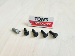 Black Security Anti Theft Auto License Plate Screws Stainless Snake Bolts Lexus