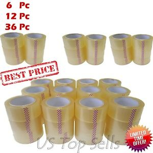 6 12 36 Rolls Clear Carton Sealing Packing Package Tape 2 X 55 Yards 165 Ft
