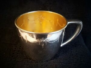Baby Cup 1921 Grosvenor Pattern Community Oneida Silver Plate Betty