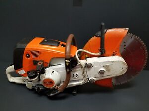 Stihl Ts700 Gas Concrete Cut off Saw W 14 New Blade Tested