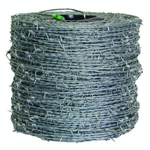 Barbed Wire Fencing 1 320 Ft 15 1 2 gauge 4 point High tensile Cl3 Heavy Duty