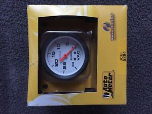 Auto Meter 5884 Phantom Vacuum Pressure Gauge 2 5 8 Full Sweep