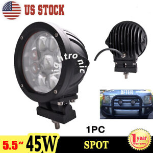 1x 5 5 45w Off Road Led Work Light Driving Fog Lamp For Offroad Truck Jeep 4x4