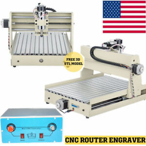 3040 400w 3 Axis Cnc Router Engraver Engraving Milling Cutting Drilling Machine