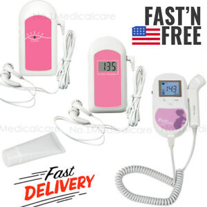 Handheld Fetal Doppler Baby Heart Beat Monitor Prenatal Probe free Gel Fda Ce