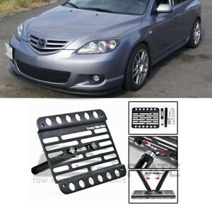 For 04 09 Mazda 3 Mazdaspeed 3 Front Tow Hole Hook License Plate Holder Bracket