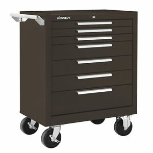Kennedy 277xb 7 drawer Brown Heavy Duty 18ga Steel Roller Tool Cabinet