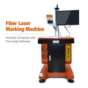 High Precision 20w Fiber Marking Engraving Machine Metal non metal Laser Marker