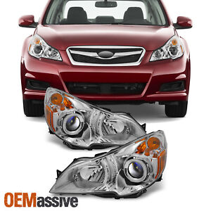 Fit 10 12 Subaru Legacy Outback Clear Headlights Driver Passenger Replacement