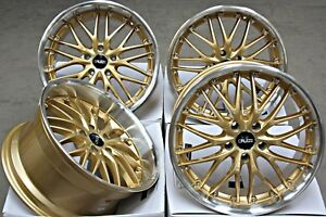 18 Alloy Wheels 18 Inch Cruize 190 Gdp Staggered Gold Polished Deep Dish 5x112