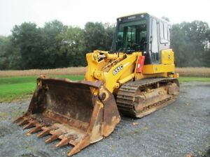 2003 John Deere 655c Ii Crawler Loader Clean Machine W cab Air 4n1 Runs Well