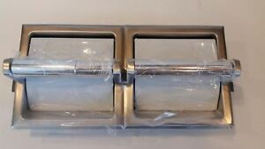 Bobrick B 6997 Recessed Double Toilet Roll Paper Dispenser Holder Stainless New
