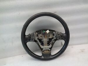 Dk810133 04 09 Mazda 3 Driver Steering Wheel W Audio Cruise Buttons Black Oem