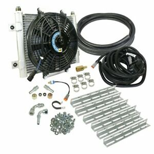 Bd Power Xtruded Auxiliary Remote Mount Trans Oil Cooler With Fan 1 2 Lines