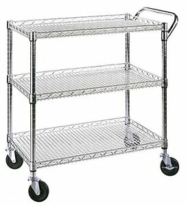 Serving Cart Heavy Duty Utility Metal Hand Truck Industrial Commercial Dolly Nsf