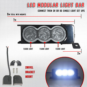 7 30w Cree Flood Led New Detachable Light Bar Off Road Truck Jeep 6000k White