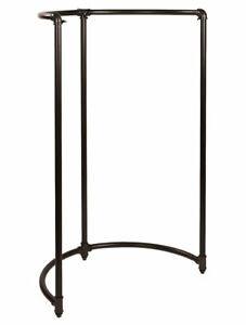 Boutique Pipe Half Round Clothing Rack Dark Gray 35 X 35 X 54 Garment Clothes