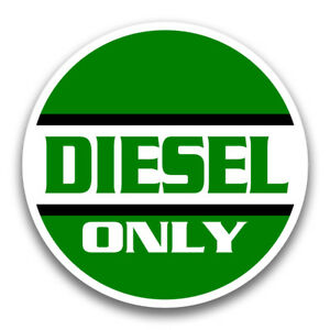Diesel Fuel Only Sticker Decal For Truck Tank Door Car Equipment Machine Shop