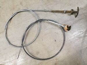 Jeep Willys M38 M38a1 M151 M37 Choke Throttle Cable Set Dodge G741 G838 G740