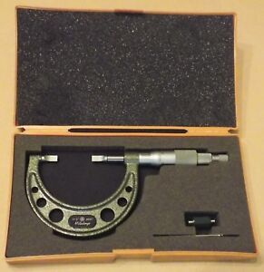 Clean Mitutoyo 1 2 Blade Micrometer Model 122 126 Quality Measurement Tool