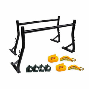 Universal Pickup Truck Ladder Racks W Mounting Clamps Ratchet Tie Down Straps