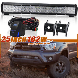 25inch Led Work Light Bar Combo For Atv Off Road Truck Tractor