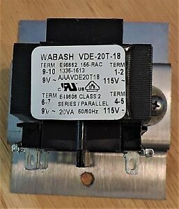 Giles Mgf 40 Fryer Transformer Wabash Vde 20t 18 From Eof 20 20 Oth 17 093