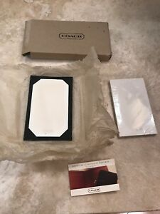 Authentic Coach Black Leather Desk Note Pad And Case Nwt Was 145
