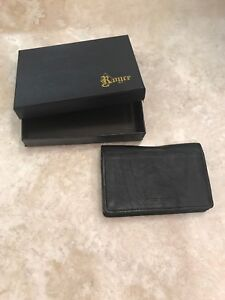 Authentic Black Leather Desk Or Pocket Memo Note Pad And Case Nwt Was 55