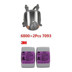 3m 6800 7093 3pcs Painting Spraying Reusable Respirator Half Face gas Mask
