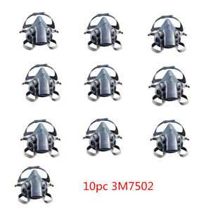 10pc 3m 7502 Reusable Respirator Painting Spraying Half Face gas Mask
