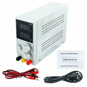 Switching Power Supply Adjustable Precision Variable Lab Digital 10a 30v 110vac