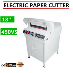 18 Programmable Full Automatic Electric Paper Cutter 450vs Us Seller