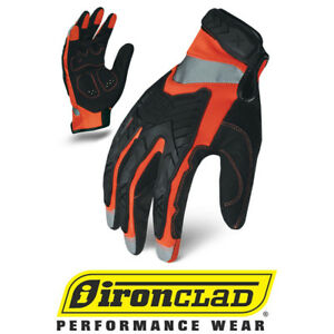 Ironclad Exo2 Hi vis Orange Impact Safety Work Gloves 12 Pair Bulk Case