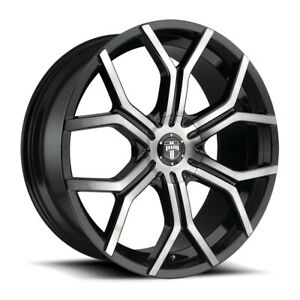 Dub Royalty S209 22x9 5 6x135 6x5 5 Et30 Mat Blk Double Dark Tint Qty Of 4