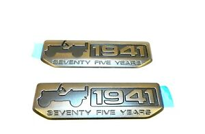 2x 2016 New Oem Jeep 1941 Willys 75 Years Emblem Badge Logo Nameplate Wrangler