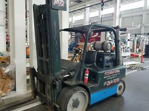 1987 Hyster Forklift S150a 15000 Lb Lift Lp Gas Three Stage Perkins 4 2