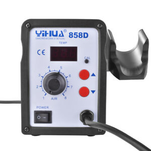 Hot Air Rework Station Led 858d Smd Solder Blower Heat Gun With 3 Nozzles He00