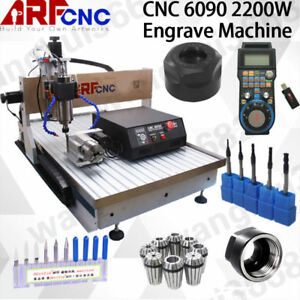 Cnc 6090 4axis 2 2kw Usb Machine Desktop Cutting Router Engraving Milling