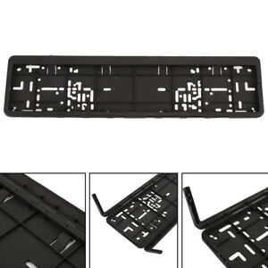 1 X European License Plate Frame Plastic Trim Surround Tag Bracket For Audi Vw