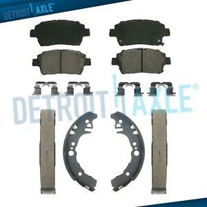 Front Ceramic Brake Pads Rear Shoes For 2001 2002 2003 2004 2005 Toyota Echo