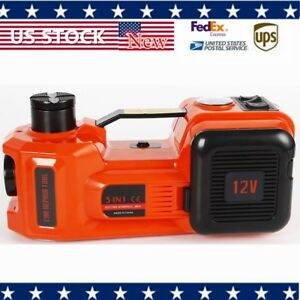 15a Electric Hydraulic Jack Lifting Kit Impact Wrench 6 1 17 7 Dc12v 180w New