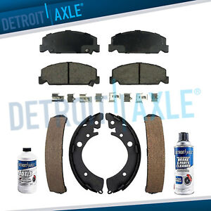 Front Ceramic Brake Pads Rear Shoes For 1992 1997 1998 1999 2000 Honda Civic