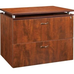 Lorell Ascent File Cabinet 2 Drawer W lock Llr68719 Cherry