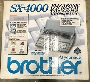 Brother Sx 4000 Electronic Lcd Display Typewriter With Dictionary W Box